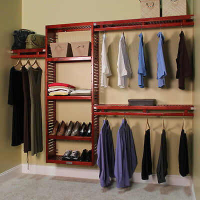 John Louis Home Collection Deep Simplicity Red Mahogany 12-inch Closet System