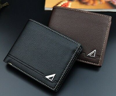 Cool Boy/'s Men/'s Wallets Slim Bifold Leather Credit Card ID Holder Wallet Purse