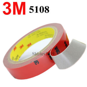 3M-5108-Double-sided-Acrylic-Foam-Adhesive-Tape-Automotive-3-Meters-Long-x15mm