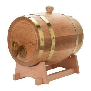 3L-5L-Wine-Barrel-Wood-Oak-Timber-Beer-Whiskey-Rum-Mini-Port-Dispenser-Keg