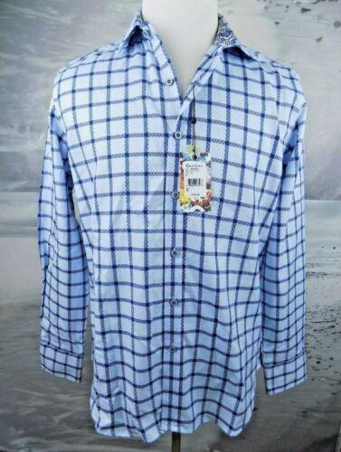 $198 NWT Robert Graham ArrowLeaf Classic Fit LS Woven Shirt Blue Size-XL