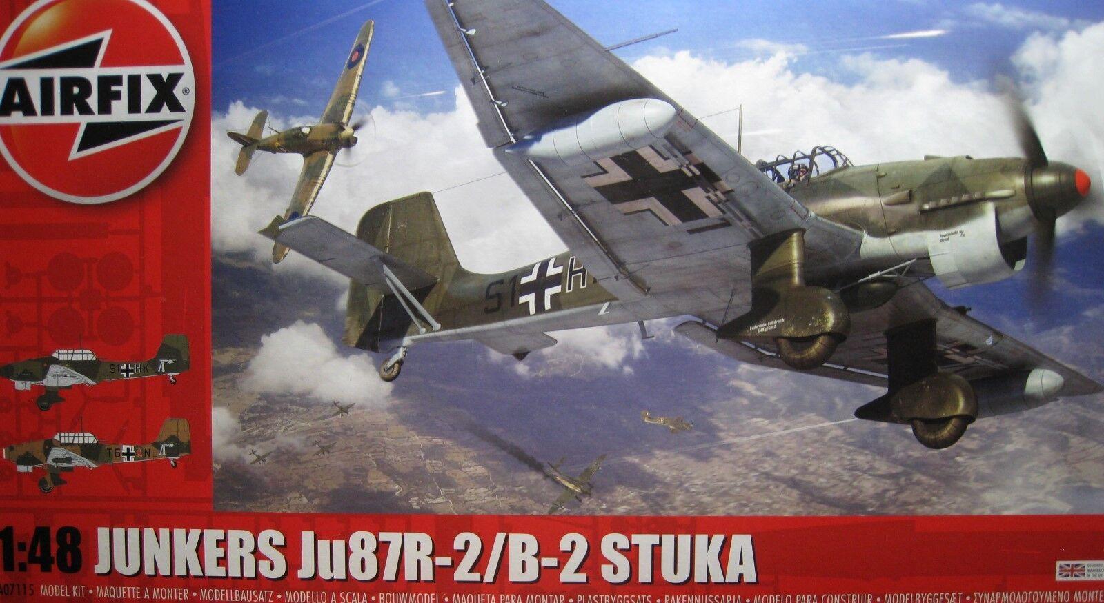 1 48 Junkers Ju87R-2 B-2 Stuka Model Kit by Airfix A07115