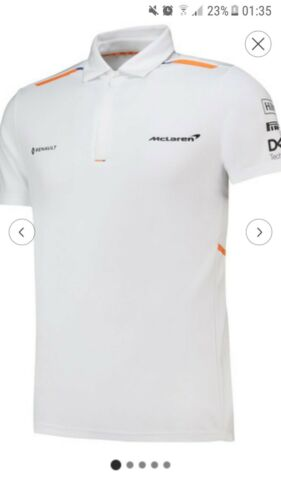 Formula 1 McLaren 2019 Team Polo Shirt Tee Top Mens Fanatics 24462 RRP £60