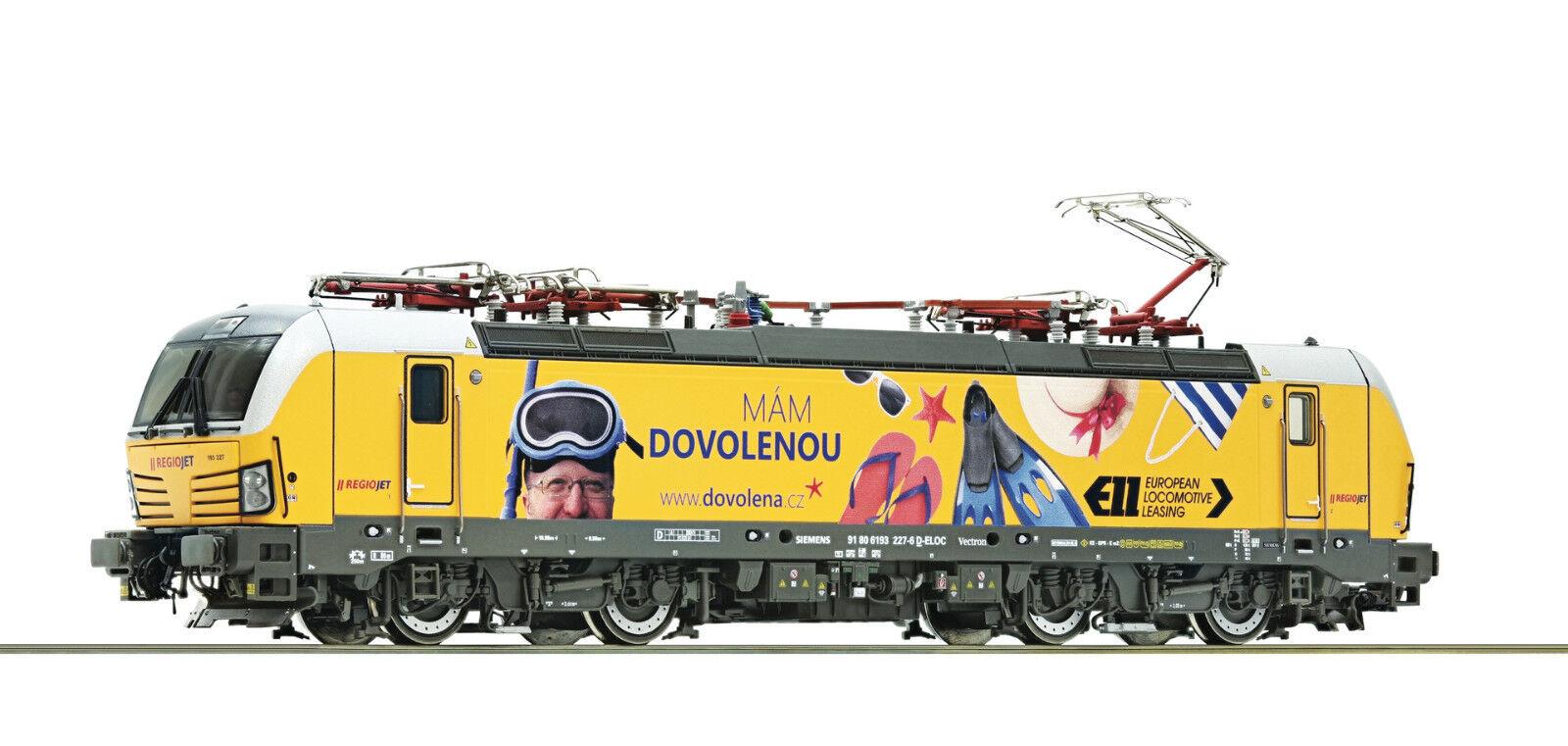 Roco H0 73940 Eléctrica Br 193 el Regiojet  DCC Digital + Sonido  -Nuevo + Ovp