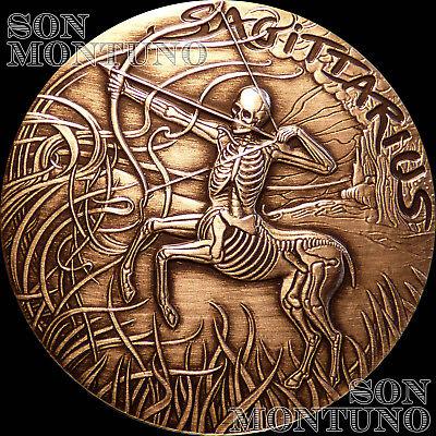 GEMINI #5 SkullCoins 2015 ZODIAC Memento Mori Series 1oz .999 SILVER Art Round