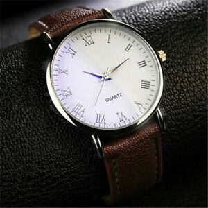 Men-039-s-Casual-Watch-Faux-Leather-Quartz-Analog-Luxury-Business-Wrist-Watches-Gift