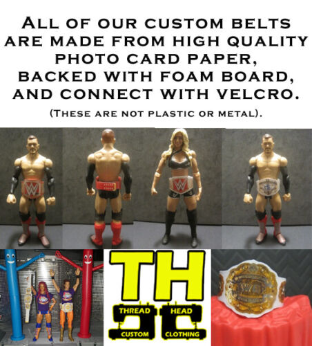 5 Custom Raw Wrestling Figure Belts WWE WWF NXT Action figure not included