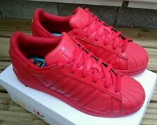 ADIDAS SUPERSTAR II PHARRELL WILLIAMS SHELL TOE TRAINERS SIZE 4.5 UK RED