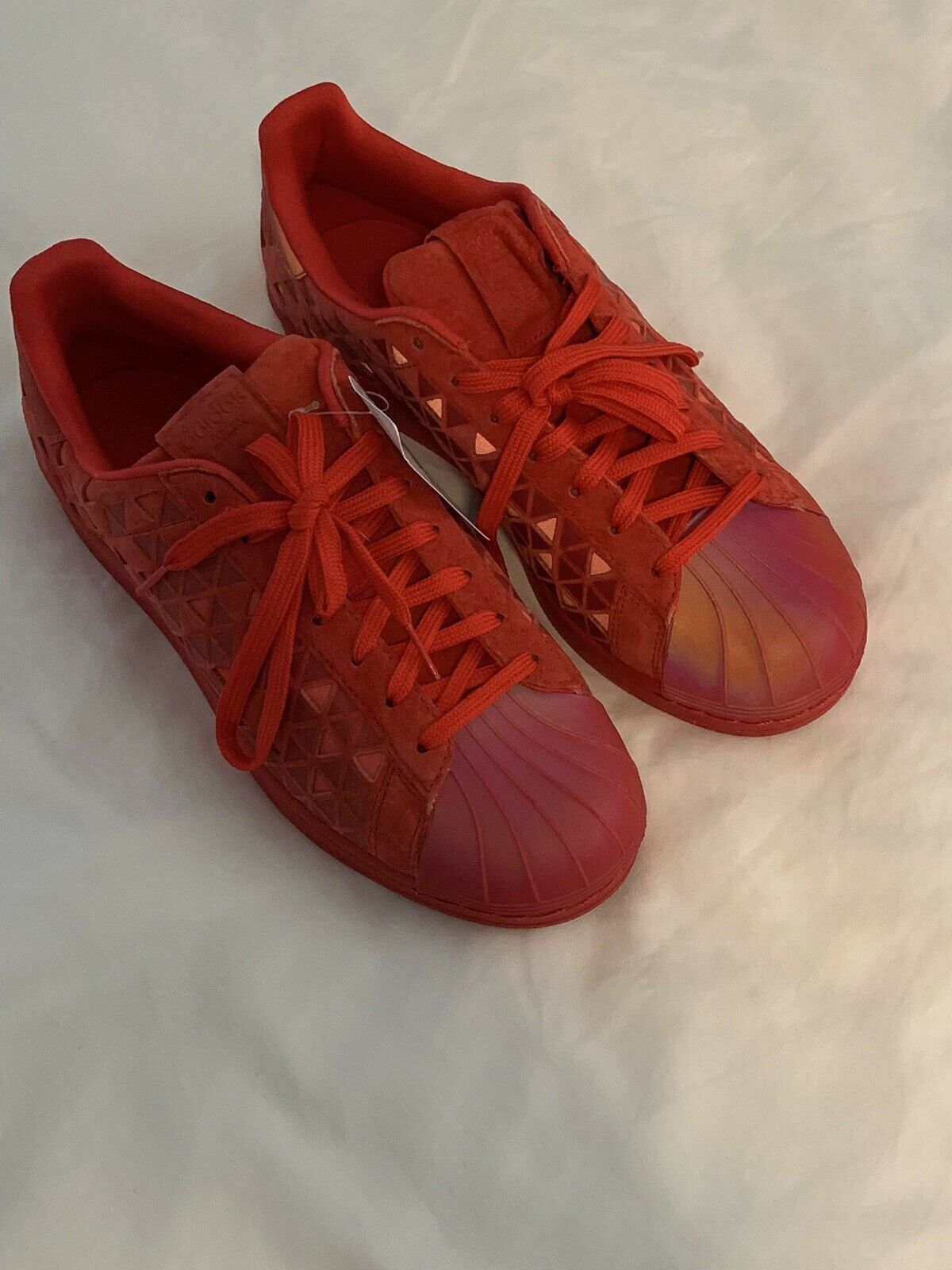 Adidas Men's Reflective Red Size 9.5 Superstar Xeno Casual shoes AQ8181