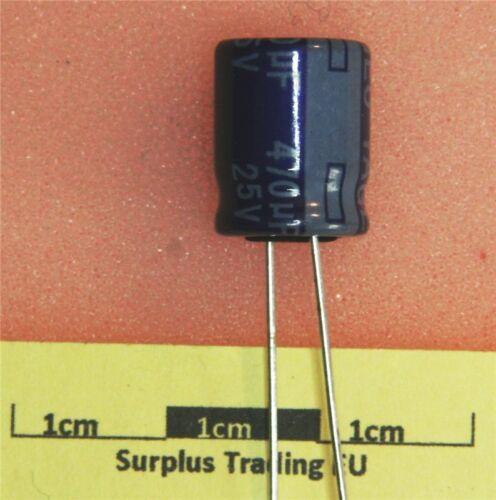 pk de 5 Yageo Condensador electrolítico Radial 470uF 25V 85C