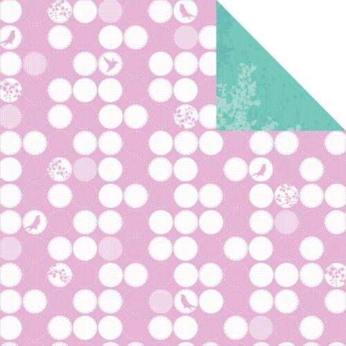 Nest 2pc Scrapbook Paper Kaiser Craft 12x12 Hummingbird