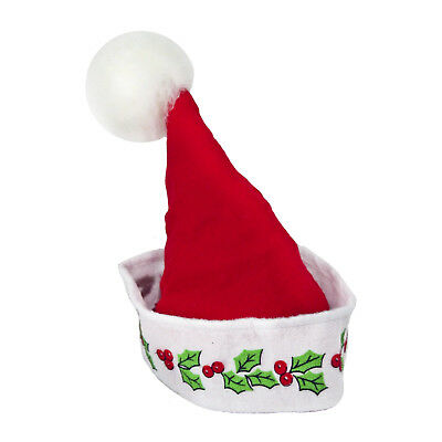 b6c0f8707f30a Adult Teen Elf Hat Helper Holly Red White Christmas Holiday Costume Santa  Hat