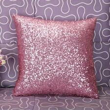 US Solid Color Glitter Sequins Throw Pillow Case Cafe Home Decor Cushion Covers