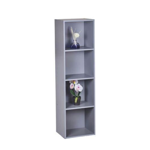 Cube 3 or 4 tier wooden storage shelf library presentation 2