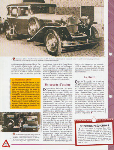 1929 ruxton automobile spec sheet auto intelligence collection car