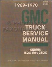 1969-1970 GMC Shop Manual Pickup Truck Jimmy Suburban 1500-3500 Service Repair