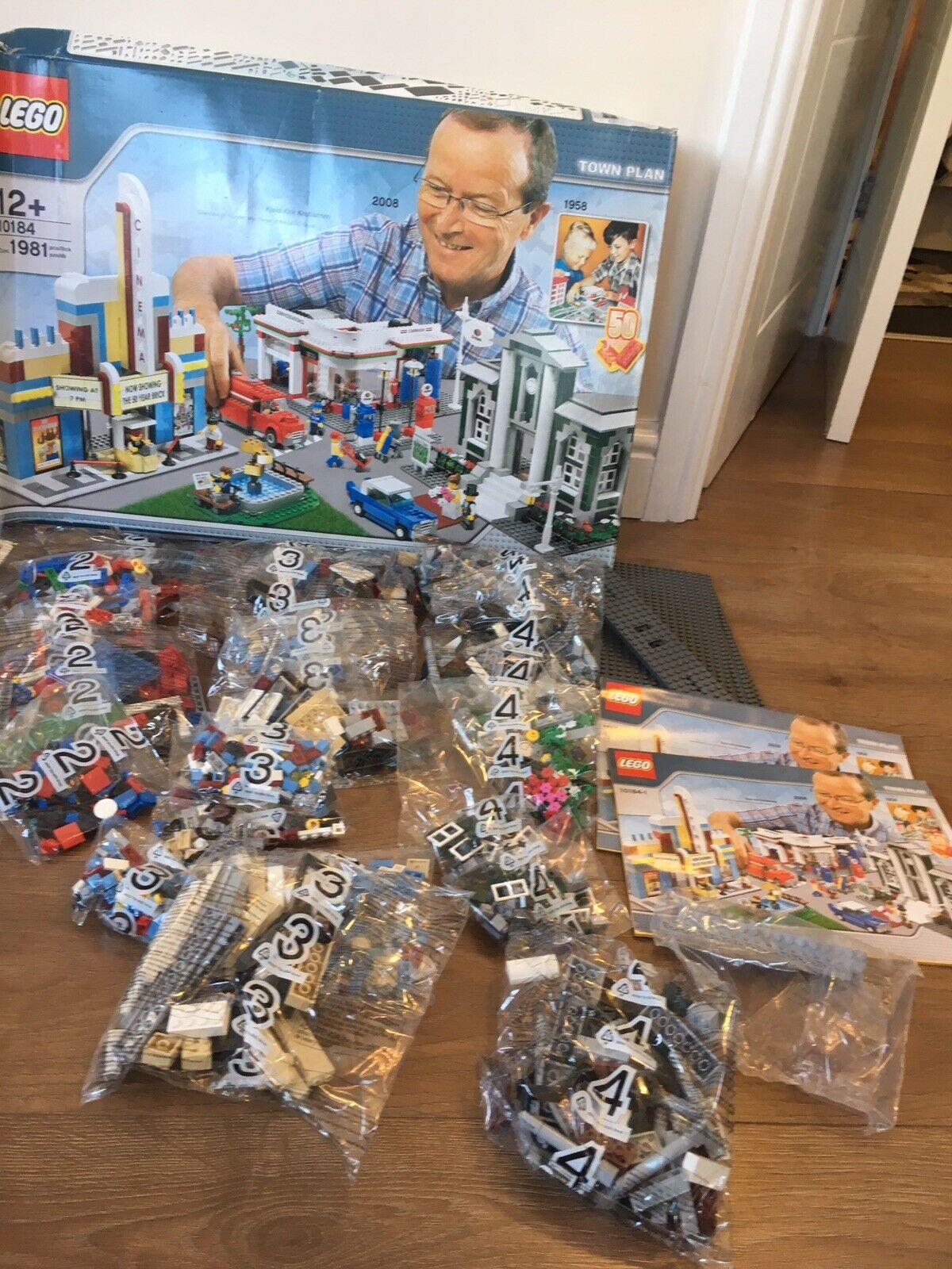 LEGO  10184 Town Plan RARA EDIZIONE LIMITATA NUOVO & IN SCATOLA-tutte le borse non aperto  autorizzazione