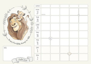 Disney-Heritage-Mums-Family-Planner-Organiser-Official-2019-A4-Wall-Calendar-New
