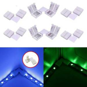10Pcs-L-shape-4Pin-RGB-5050-LED-Light-Connector-10MM-Strip-Light-Connectors