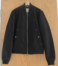 BURBERRY Mens Navy Wool Bomber Style Coat Medium Size NEW 100% Authentic