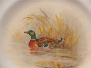 Royal-Worcester-SIGNED-Cabinet-Plate-Handpainted-GAME-Birds-Wild-Duck-Maybury