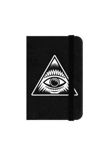 Notizbuch Mystical Eye Mini 6,5 x 10 cm schwarz