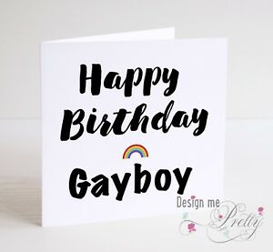 Image Is Loading HAPPY BIRTHDAY GAYBOY Men 039 S Funny Birthday