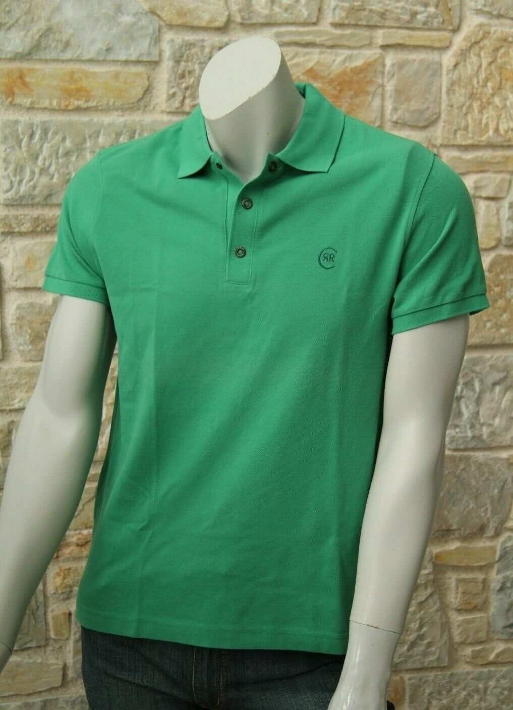 CERRUTI 1881 Men's 100% Cotton Green Polo T-Shirt Free Shipping New with Tags