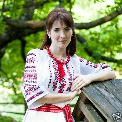 Ukrainian handmade embroidered shirt for ladies, blouse, sorochka, vyshyvanka