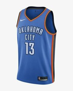 finest selection 641ad 3a1f4 Details about NEW NIKE Men's NBA 'OKLAHOMA CITY THUNDER PAUL GEORGE'  SWINGMAN JERSEY - M