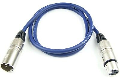 Kabel & Verbindungen Aggressiv 1 M Mikrofonkabel 3 Pol Xlr Blau Adam Hall Mikrofon Dmx Kabel Neutrik Kompatibel Diversifizierte Neueste Designs