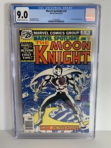 Marvel Spotlight 28 CGC 9.0 1st Solo Moon Knight Story