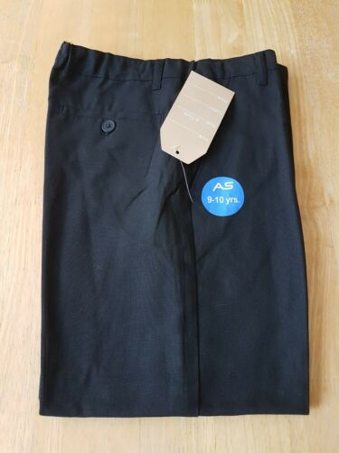 BNWT Age 9-10 years Adjustable Waist Boys Black School Trousers