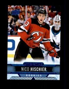 2017-18 Upper Deck Overtime Blue #180 Nico Hischier RC Rookie (R1455)