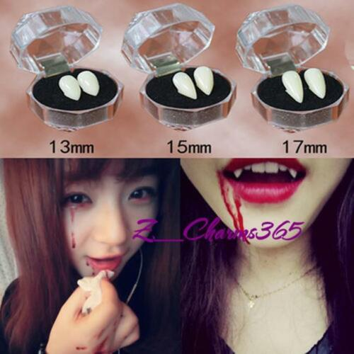 Vampire Teeth Fangs Cosplay Halloween Zombie Costume Party Wolf Devil Ghost HM
