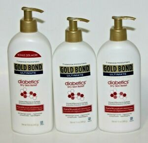 Lot 3 Gold Bond Ultimate Lotion Diabetics Dry Skin Relief