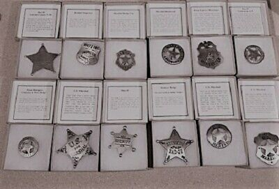 Old West Sheriff Badge-Silver Plated--replica