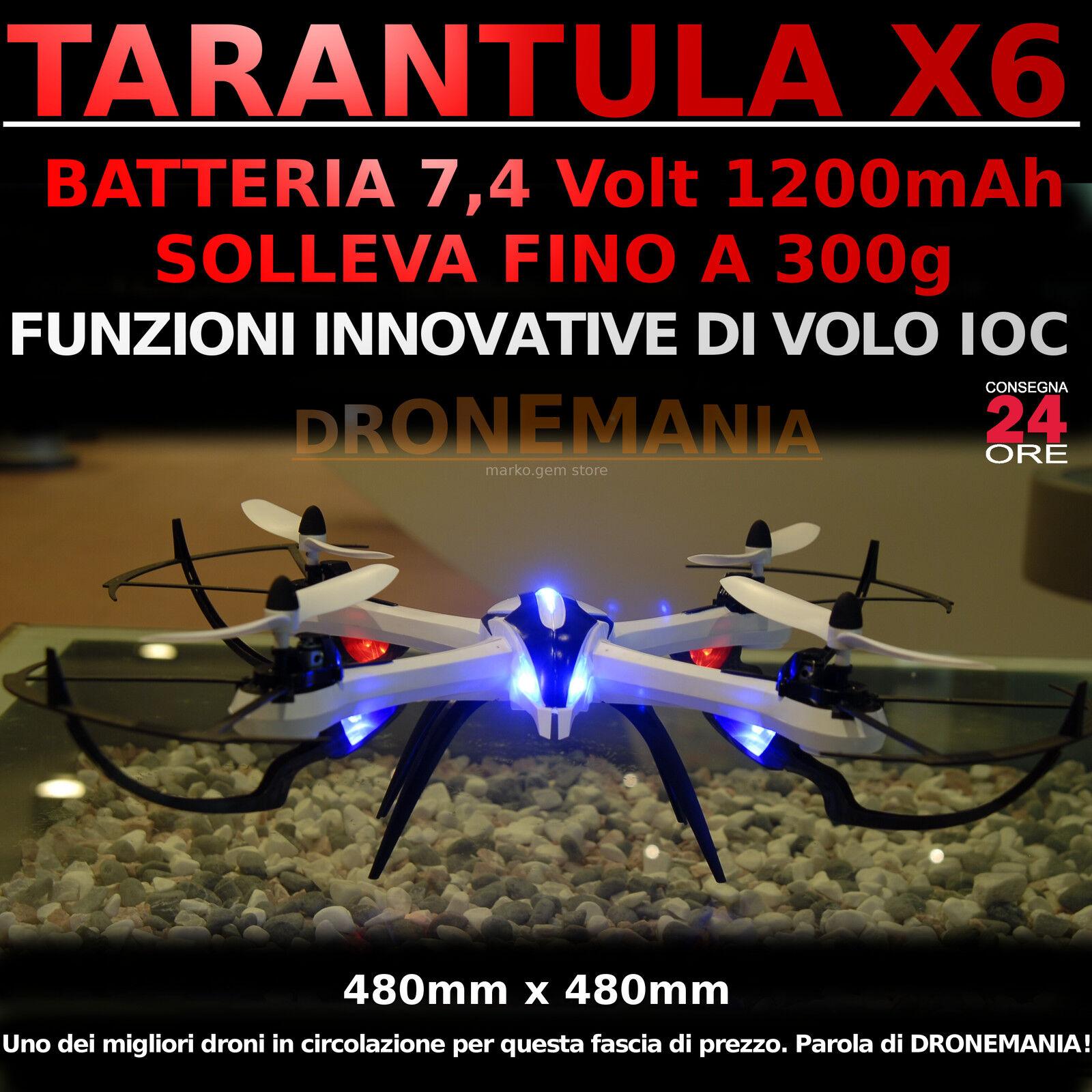 Drone Drone Drone XXL Tarantula X6 gree DRONE VELOCISSIMO OPTIONAL telecamera 5 MPX VIDEO FOTO b52130