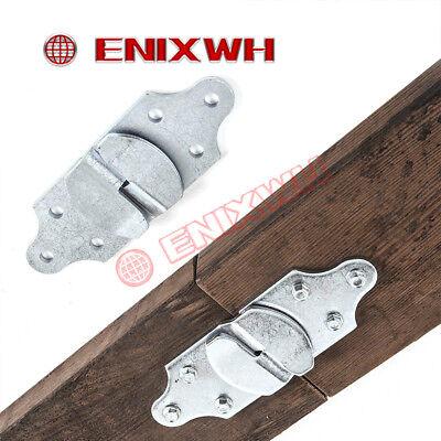 4 PC Utility Trailer Wood Sides Latch Rack Stake Body Straight Brackets