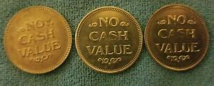 2-VINTAGE-CARWASH-TOKENs-FOR-for-NACHROL-Daytona-Beach-FL