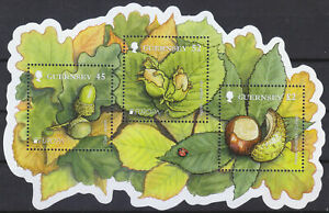 Guernesey-2011-Timbre-Forets-Feuille-MNH-Sg-MS1379