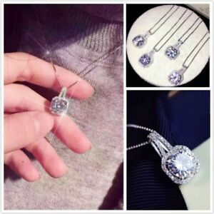 Elegant-Women-Crystal-Pendant-Jewelry-Chunky-Statement-Choker-Necklace-Chain