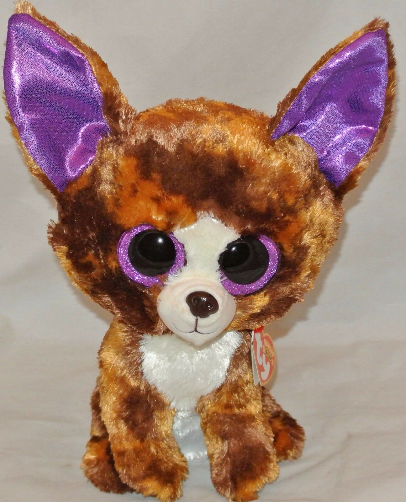 "Ty 6/"" DEXTER Chihuahua Beanie Boos Plush Stuffed Animal MWMT/'s Heart Tags 2017"