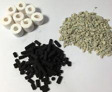 Bio Ceramic Rings 500g+Activ Carbon 500g+Zeolite 200g+Net Bags Media Filter,