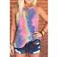 Women-Summer-O-Neck-T-Shirt-Leopard-Blouse-Casual-Beach-Tops-Sleeveless-Tank thumbnail 4