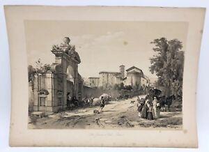 San-Giovanni-e-Paolo-Celio-Rome-1843-G-Moore-Lithograph-Architecture-of-Italy