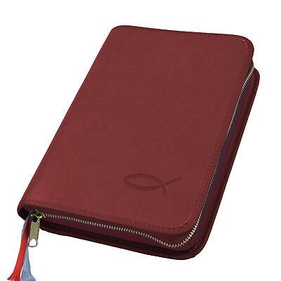 Gotteslob Hülle Gotteslobhülle Kunst Leder Rot Mit Prägung Fisch Gebetbuch Einfach Und Leicht Zu Handhaben Bücherzubehör