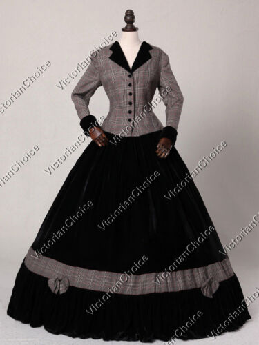 Steampunk Dresses | Women & Girl Costumes    Victorian Pioneer Woman Tartan Day Dress Reenactment Halloween Costume N 122 $165.00 AT vintagedancer.com