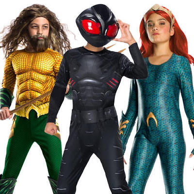 Aquaman Movie Kids Fancy Dress DC Comics Book Day Kids Superhero Costume Outfit