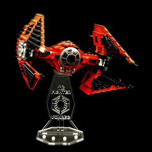 Acryl-Display-Stand-Acrylglas-Standfuss-fuer-LEGO-75240-Major-Vonregs-Tie-Fighter